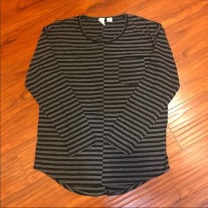 Feathers scoop neck long sleeve shirt